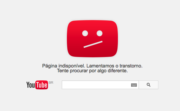 Erros no YouTube